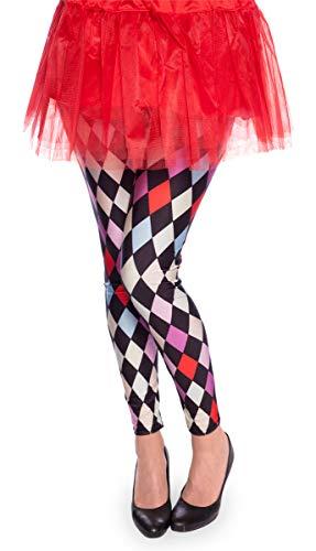 (Folat Legging Rautenmuster Clown Harlekin)