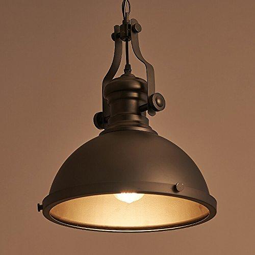 XSPWXN Lámpara de araña de la cabeza del arte del hierro lámpara decorativa industrial retro de la barra del restaurante de la casa retro nórdica alto brillo E27 Fuente de luz 110-240 voltios CA Cadena de voltaje: los 35CM (ajustable)