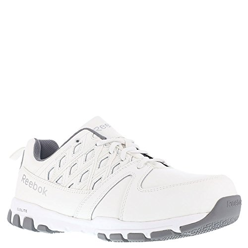 Reebok Work RB4443 Sublite Mens White SD SR Steel Toe Athletic Oxford Shoes Steel Toe Sd-oxford
