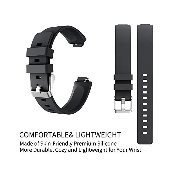 Ownest Compatible con Fitbit Inspire& Inspire HR Fitness Tracker Banda, Ajustable Suave Silicona Mujeres Hombres Correa… 3