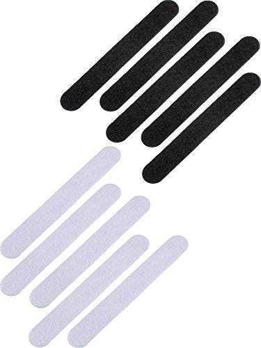 Bememo 20 Pieces Hat Reducer Felt Cap Size Reducer Tape for Hats Caps Sweatband, Black and White