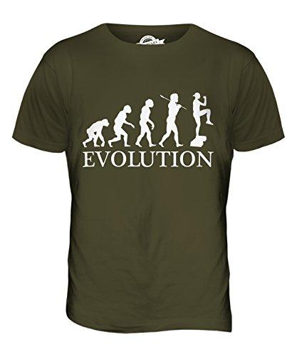 CandyMix Aerobica Evoluzione Umana T-Shirt da Uomo Maglietta Verde oliva