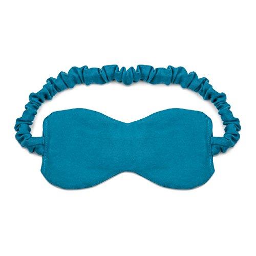 Schlafmaske aus 100 % Baumwolle mit Lavendelblüten-Füllung | kuschelweiches Bio Baumwoll-Satin | Edle Schlaf-Brille für Damen und Herren | Handmade in Germany | Augenmaske für optimale Erholung