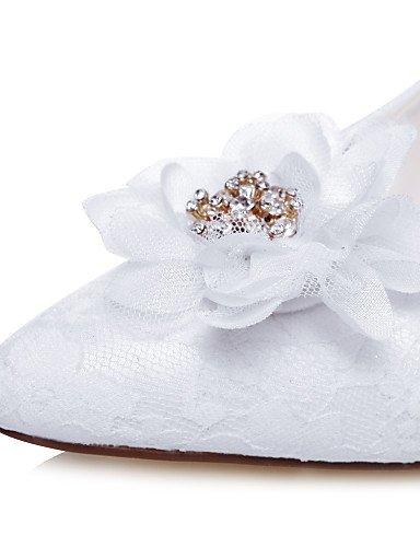WSS 2016 Chaussures de mariage-Blanc-Mariage / Habillé / Soirée & Evénement-Talons / Bout Pointu-Talons-Homme 3in-3 3/4in-white