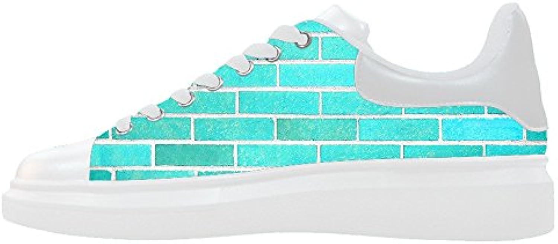 Custom struttura del muro di mattoni Wouomo Canvas scarpe Le scarpe le scarpe le scarpe. | unico  | Uomini/Donna Scarpa