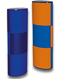Zauberetui Brillenetui LOGIC MEDIUM LANG BICOLOR 14117 mit Farbwechsel in blau-blau/orange-blau 180 Grad drehbar