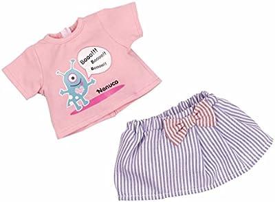 Nenuco - Set ropita casual con camiseta rosa y falda azul (Famosa 700011324)