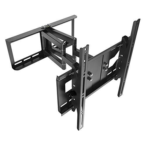 ng Schwenkbar Neigbar R48 Universal LCD Wandhalter Ausziehbar Fernseher Halterung Curved 4K OLED Flachbildfernseher 80cm/30-165cm/65 Zoll VESA 200x200 400x400 / Schwarz ()