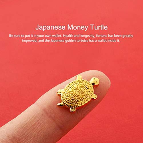 TARTIERY Japanische Geld-Schildkröten-Ornamente für Fortune-Einrichtung, Asakusa-Tempel, klein, goldene Legierung, Schildkrötenschutz und Beten