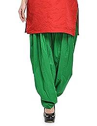 Kurti Studio Women's Cotton Semi Patiala Salwar (semip08_Light Green_Free Size)