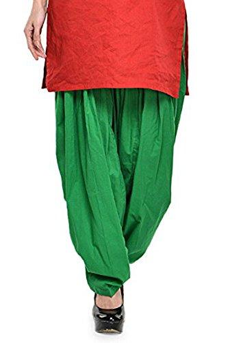 Kurti Studio Women\'s Cotton Semi Patiala Salwar (semip08_Light Green_Free Size)