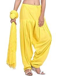 Jaipur Kurti Pure Cotton Patiala Salwar And Dupatta Set (Neon Yellow)