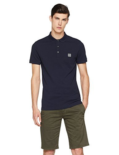 BOSS Herren Poloshirt Passenger, Blau (Dark Blue 404), Large