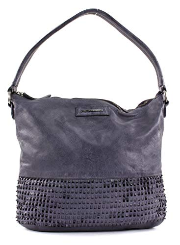 FREDsBRUDER Scoony Ledertasche Damen Handtasche Schultertasche Shopper in purple aubergine