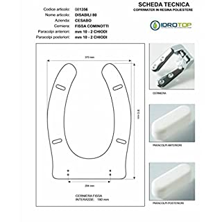 Toilet disabled 80cesabo White with Zip Chrome