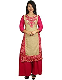 This V Brown Kurti With Palazzo/Plazo Set Has Beautifully Design By Latest Creation Of V Brown.This Kurti Fabric...