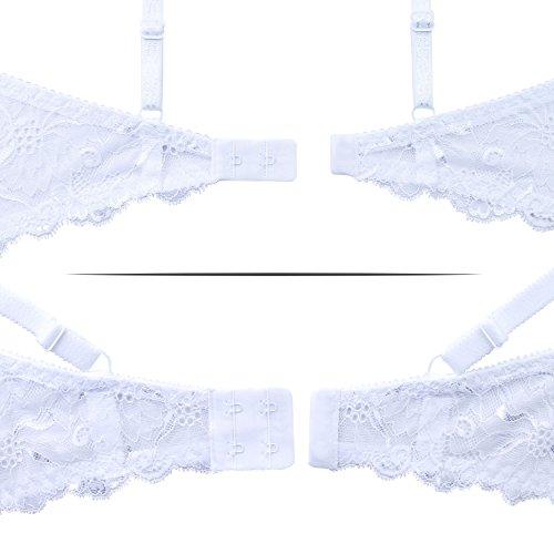 frugue Damen Balconette-BH, mit Bügel, Leicht Gepolsterter, MADE IN EU Weiß