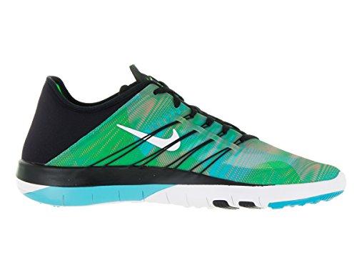 Nike Damen Wmns Free Tr 6 Prt Turnschuhe Black (Schwarz / Weiß-Blau-GLCR Gamma Bl)