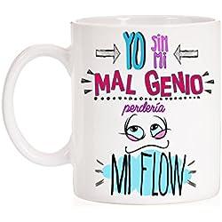 Taza Yo sin mi mal Genio perdería mi Flow. Taza muy divertida