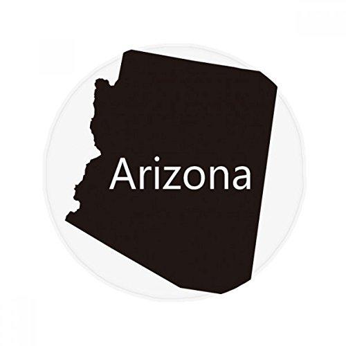 DIYthinker Arizona der Vereinigten Staaten von Amerika Karte Anti-Rutsch Boden Pet Matte rund Badezimmer Wohnzimmer Küche Tür 60/50cm Geschenk, Gesponnenes Polyester, Mehrfarbig, 60X60cm