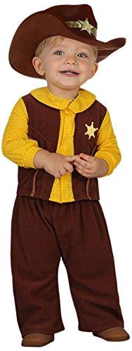 Atosa 23748 - Cowboy Kostüm, Größe 6-12 Monate, braun (Baby Cowboy Kostüm Muster)