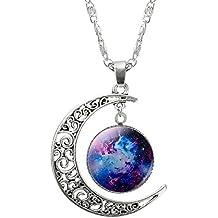 drawihi Mode Resina piedras preciosas Halskette creativos femenina Halskette schlüsselbein Halskette Luna Colgante Joyas