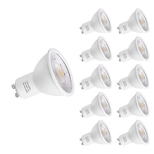 PURSNIC GU10 LED-Glühbirne, warmweiß, 5W ersetzt 40 Watt Halogen, nicht dimmbar, 400 Lumen, 3000K, 60 ° Abstrahlwinkel, nicht Verwendung mit Dimmer Schalter,10 Stück -