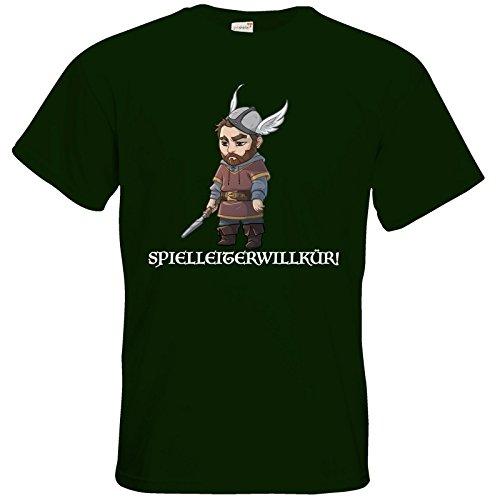 getshirts - Das Schwarze Auge - T-Shirt - Let's Plays - Nubor Spielleiterwillkür - Chibi Bottle Green