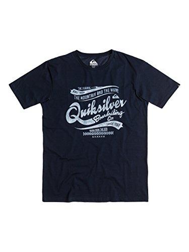 Quiksilver Herren Kurzarm-T-Shirt Classic Tee A2 M Tee Navy Blazer