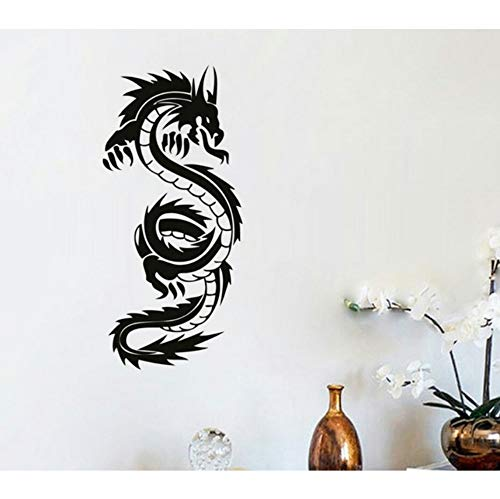 Chinese Dragon Wandbild Wohnzimmer Dekoration Vinyl Kunst Entfernbare Wandaufkleber 59x29 cm