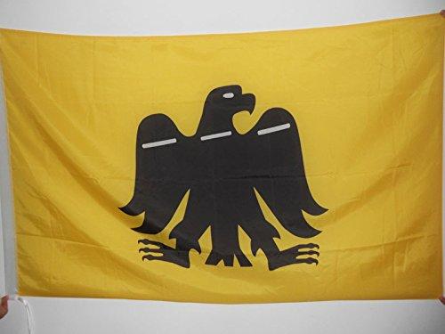 AZ FLAG Flagge BASKENLAND ARRANO BELTZA 90x60cm - BASKISCHER Adler Fahne 60 x 90 cm Scheide für Mast - Flaggen Top Qualität