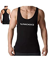 Alphachoice - Camiseta de Tirantes para Hombre - Camiseta de Fitness sin  Mangas para Culturismo y f159203ebb0