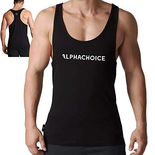 Alphachoice Alphachoice Original Gym Stringer Tank Top Herren - Fitness Stringer Fitnesstuidio Kleidung (S)