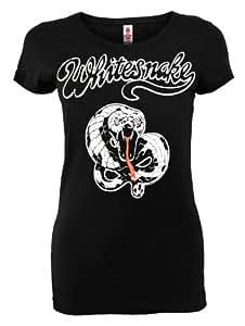 Whitesnake Damen T-Shirt Frauen Band Musik schwarz Gr. L