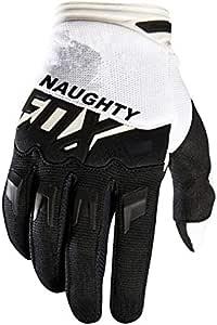 Djlhnnew Naughty Fox Pink Blue Gloves Motorradfahren Dirt Bike Mountainbiken Motorrad Dirtpaw Race Gloves Schwarz Weiß S Küche Haushalt