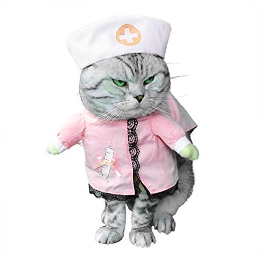 smalllee–Lucky–store-piccolo-cane-vestiti-per-ragazze-e-ragazzi-Gatto-Cane-Costume-da-infermiera-con-cappello-elegante-fiocco-tutte-le-stagioni-rosa