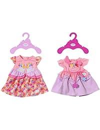 Zapf Baby Born Dresses 2 Assorted Vestido para muñecas - Accesorios para muñecas (Vestido para muñecas, 3 año(s),, Baby Born, Chica, 43 cm)