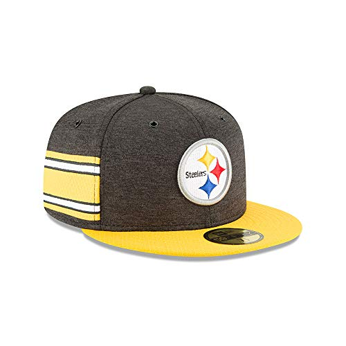 0553d9f9dc989 A NEW ERA Era Pittsburgh Steelers NFL Sideline 18 Home On Field Cap 59fifty  Fitted OTC