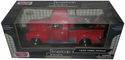 1940 Ford Pickup Tow Truck Red 1/24 by Motormax 73234T | De Gagner Une Grande Admiration Et Est Largement Confiance à La Maison Et à L'étranger