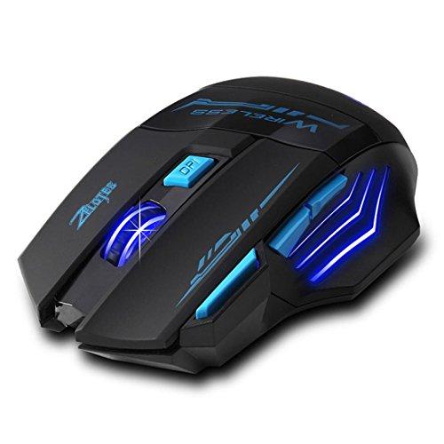 Mouse, Wireless Optical Lanowo de gama alta inteligente 2400 dpi ajust