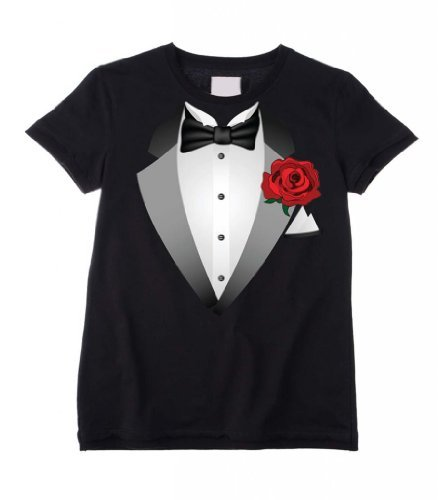 tuxedo-fancy-dress-childrens-kids-t-shirt-ages-3-to-12-age-9-to-10-black