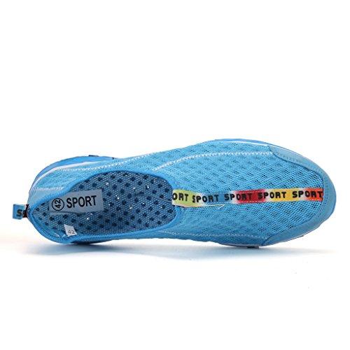 DoGeek Scarpe da Spiaggia Scarpe Acqua Scarpe a Piedi Nudi Dell'Acqua Scarpe Acquatici per Unisex Scarpe Adulti Donna Uomini Blu