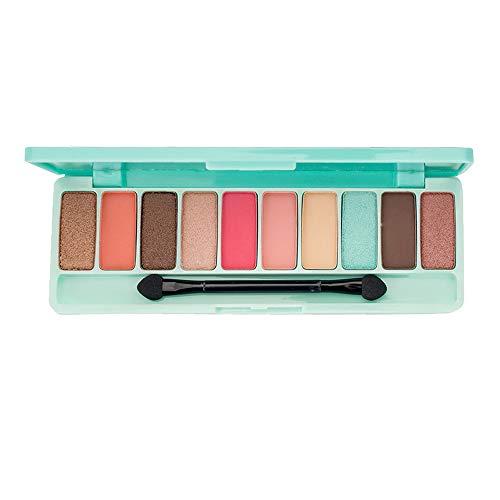 Cwemimifa Eyeshadow Palette Glitzer,Lidschatten-Kosmetik eingestellt mit Augen-Make-uppalette des Pinsel-10 Farb,E -