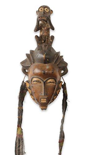 Novica 546.374,3cm Baule ER Monkey Afrikanische Maske (Bush-maske)