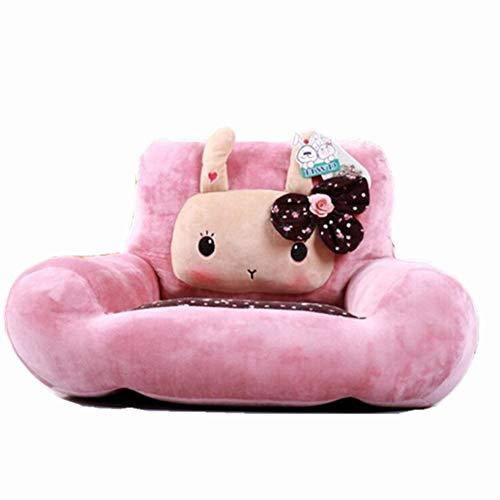 TOYSOFA Plüschhase Stuhl, Niedlichen Cartoon Tier Kinder Sofa Sitz Gefüllte plüsch Bohnenbeutelstuhl Kinder möbel Geburtstagsgeschenke für Junge mädchen-Rosa 60x35cm(24x14inch)
