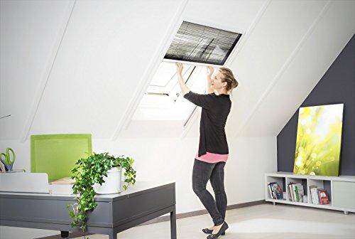 Insektenschutz Fliegengitter Dachfenster Plissee 'Master' Alurahmen verschiedene Größen in weiß und braun als Selbstbausatz