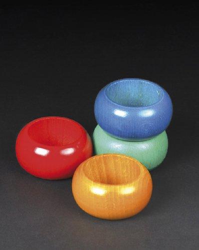 Metaltex - Juego de 4 Servilleteros Madera, Colores Surtidos