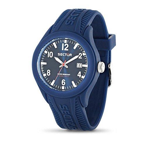 Sector R3251576010 - Reloj con correa de caucho para hombre, color azul / gris