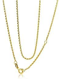 Miore Damen-Kette Weizen 9 Karat 375 Gelbgold 42 cm
