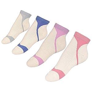 wscmd 4 Paar Damen-Niedrigzehen-Knöchelsport-Socken mit halber Auflage und Laufsocken